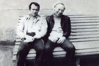 Владимир Михайлов и Валерий Ободзинский в елизовском аэропорту, 1987 год.
