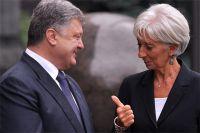 Президент Украины Пётр Порошенко и директор МВФ Кристин Лагард.