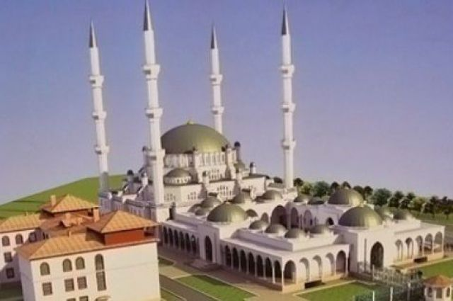 Макет Соборной мечети в Симферополе