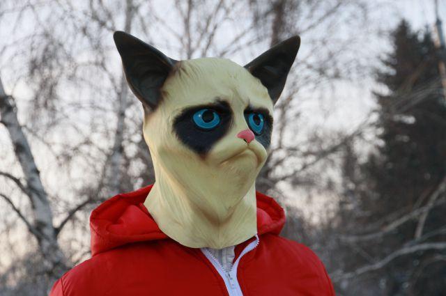 Маска самого грустного кота в мире.