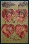 На многих открытках также изображали бога любви, Купидона, ангелоподобного бога, которого считали талисманом дню Святого Валентина