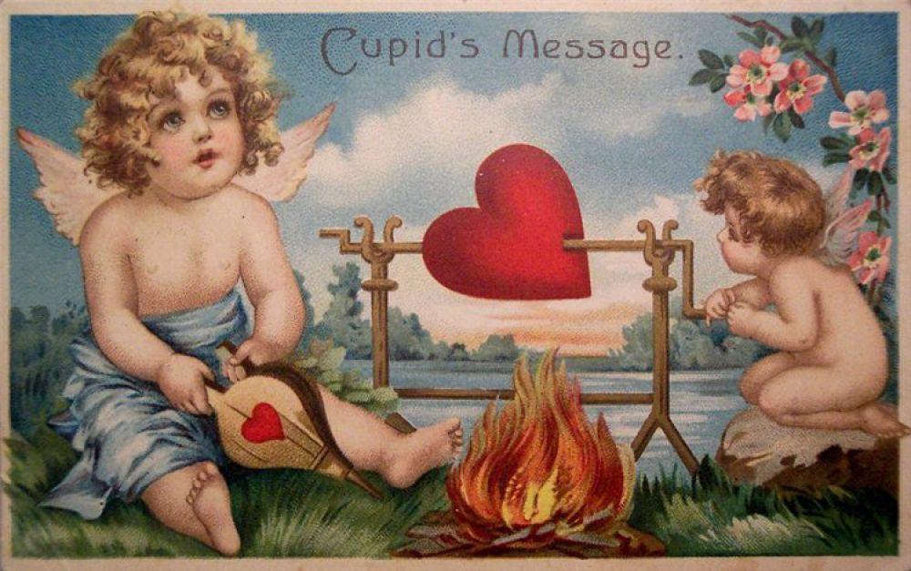 В XVIII веке валентинки, украшенные сердцами и Купидонами распространились по всей Европе