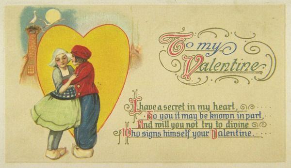 В начале XIX для молодых людей, которые не могли сами написать стихов для любимой, английский издатель предлагал валентинки с готовыми стихами