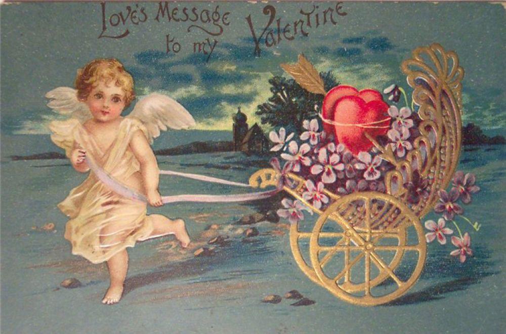 В 1848 году господин Овлан, американский продавец бумаги, привез из Англии в Америку небольшие симпатичные валентинки, которые сразу же привлекли внимание его супруги