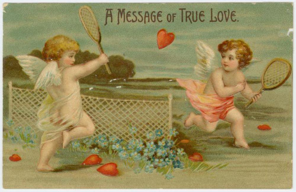 Популярность дарения открыток на день святого Валентина постоянно росла в Европе и около 1800 года появились первые открытки, которые можно было купить в магазине и подарить любимому
