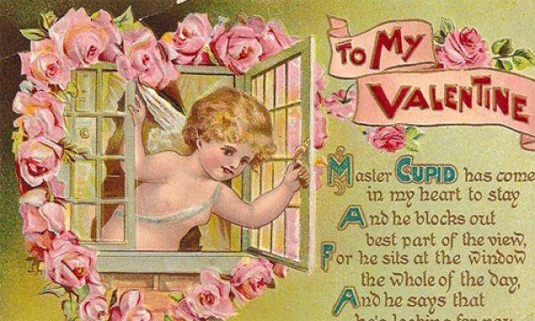 Валентинки были украшены - оборками, романтическими стихами и символами любви - амуром, сердцами и цветами