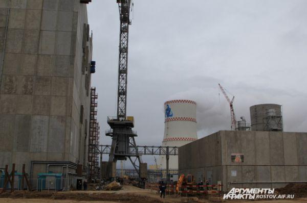 Строительная площадка 4-го энергоблока РоАЭС. Технологический пуск 4-го энергоблока намечен на сентябрь 2017-го, ввод в эксплуатацию - в ноябре 2017 года.