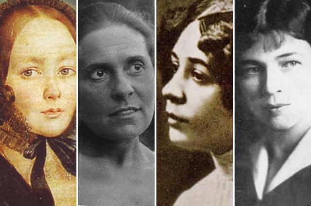 Анна Керн, Лиля Брик, Нина Петровская, Зинаида Райх, Любовь Менделеева.