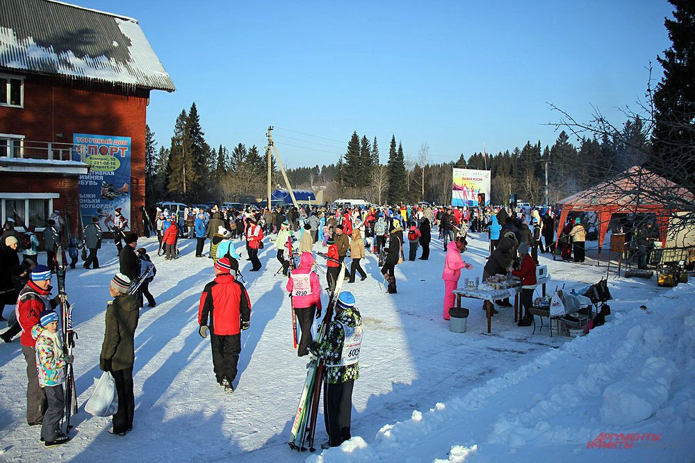 Традиционная Всероссийская гонка «Лыжня России» прошла в Перми в день Святого Валентина, 14 февраля.