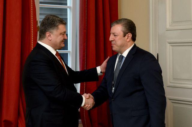 Порошенко и Квирикашвили