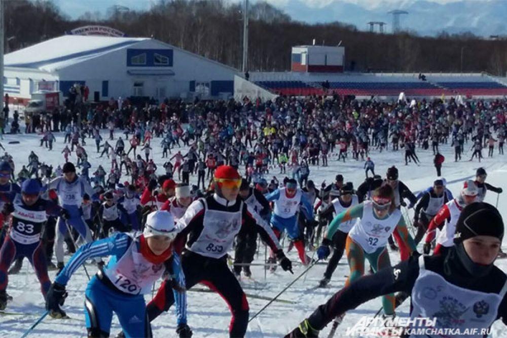 5 тысяч 715 камчатцев встали в этот день на лыжи.