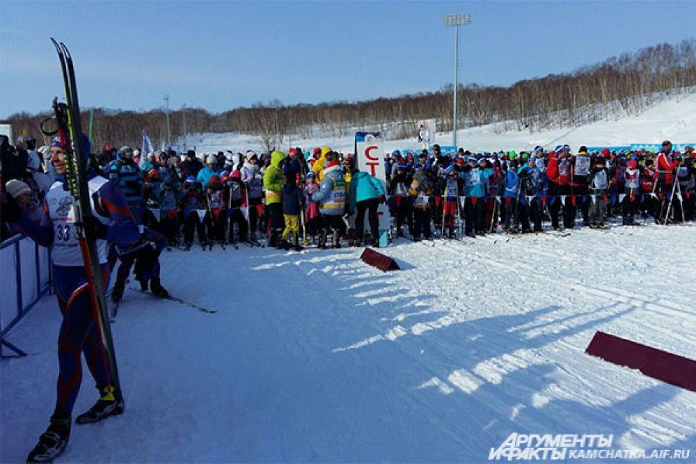 «Лыжня России» проходит на Камчатке с 2004 года.