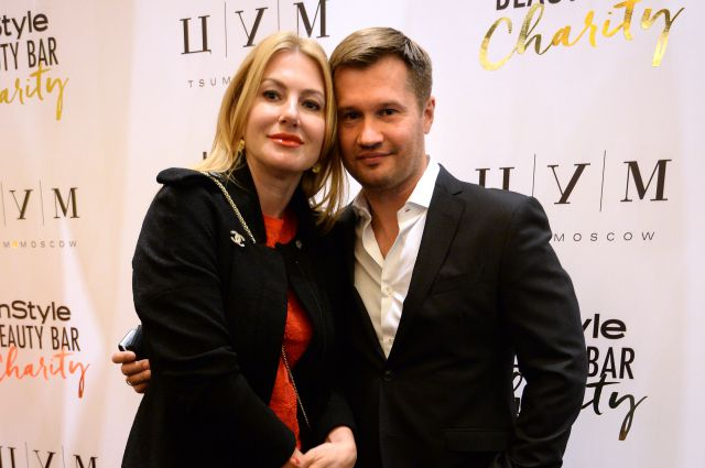 Алексей Немов в супругой Галиной