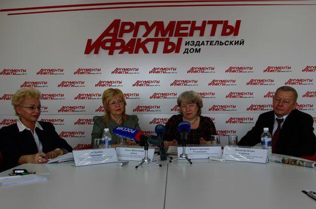 Анна Черкашина, Ольга Лебедь, Елена Голенецкая и Владимир Горбачев