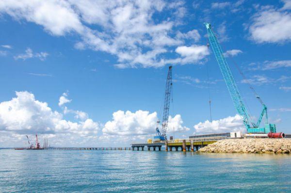 Строительство временного рабочего моста