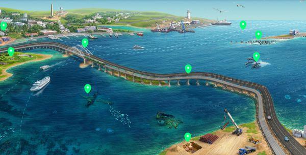 Карта-схема Керченского моста
