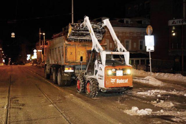 На ул. Горького чисто: 10 февраля здесь работала снегоуборочная техника.