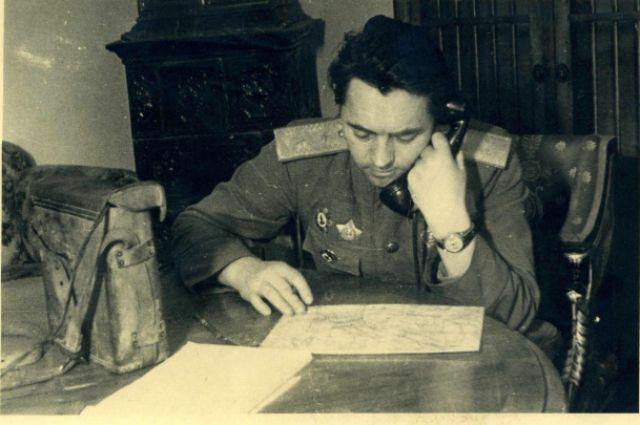 1945 год. Ганий Сафиуллин под Первомайском.