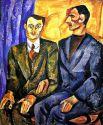 «Портрет Ю. П. Денике (Юрьева) и А. Д. Покровского». 1913