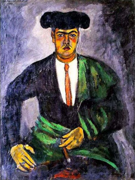 В начале ХХ века Кончаловский входил в пору творческой зрелости. Поиск своего пути в искусстве шел очень тяжело, он мучился от неудовлетворенности собой, и все только что написанные работы шли под нож. «Матадор Мануэль Гарта». 1910
