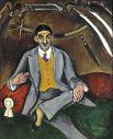 Ранние работы художника выполнены в духе фовизма и кубизма. «Портрет Жоржа Якулова». 1910