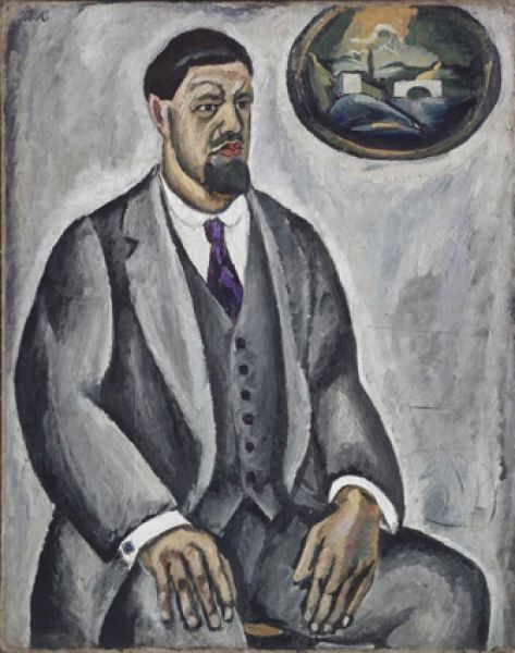 Все свои работы художник представлял на суд супруги, Ольги Васильевны. Если она говорила: «Не то», то участь холста была предрешена — картина безжалостно загрунтовывалась. «Автопортрет в сером». 1911