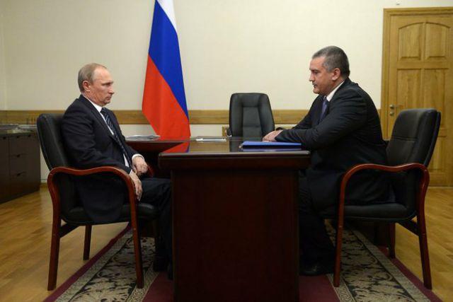 Владимир Путин и Сергей Аксенов
