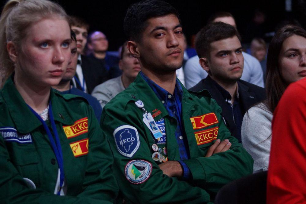 Бойцы студотрядов пришли на КЭФ послушать о своем будущем