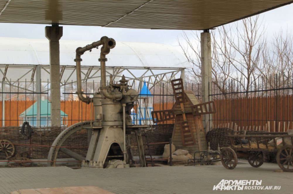 Парамоновская мельница. Редчайший экспонат, двигатель еще находится в рабочем состоянии.