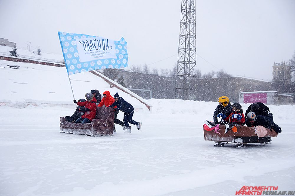 Борьба на льду была нешуточная!