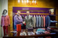 Коммерческий директор модного дома ISAIA Энцо Магарачи и владелец галереи бутиков «Лакшери Store» Евгений Жехарев в галерее Лакшери Store