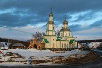Храм в селе Прислониха, где родился выдающийся художник Аркадий Пластов.