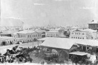 Базарная площадь Енисейска. Фото XIX века.