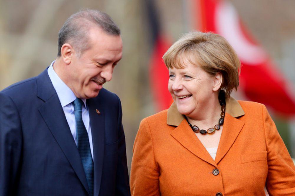 Канцлер Германии Ангела Меркель и премьер-министром Турции Реджеп Тайип Эрдоган в Анкаре, 2013.