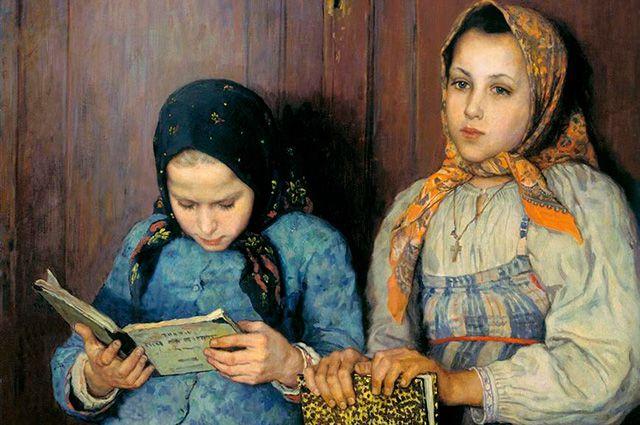 Николай Богданов-Бельский «Ученицы», 1901 г.