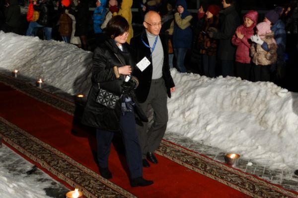 Член международного жюри из Казахстана Ермек Шинарбаев (справа).