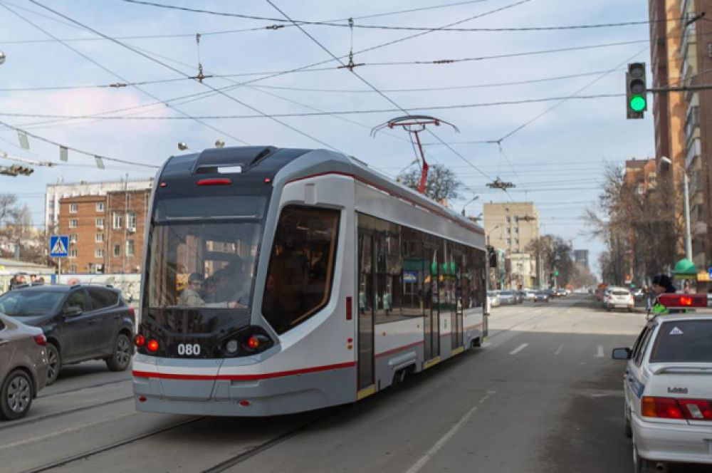 Вот такой трамвайный вагон нового поколения был специально разработан для Ростова-на-Дону компанией «ПК Транспортные системы».