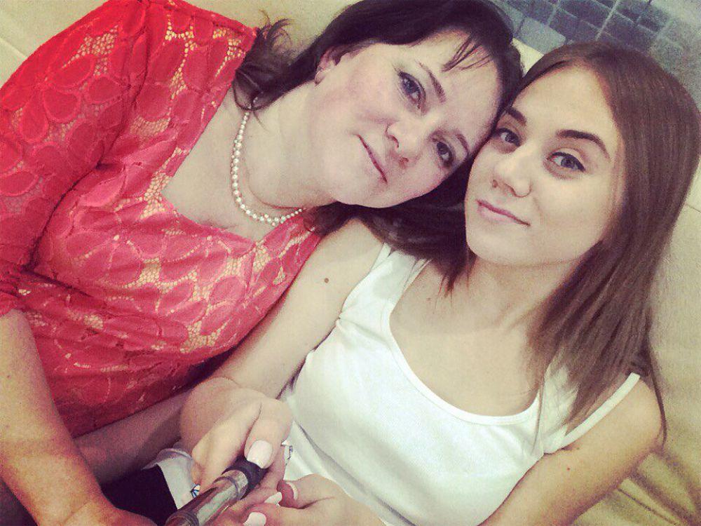 Старцева Юлия с мамой Татьяной.