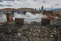 Последствия пожаров в Хакасии.