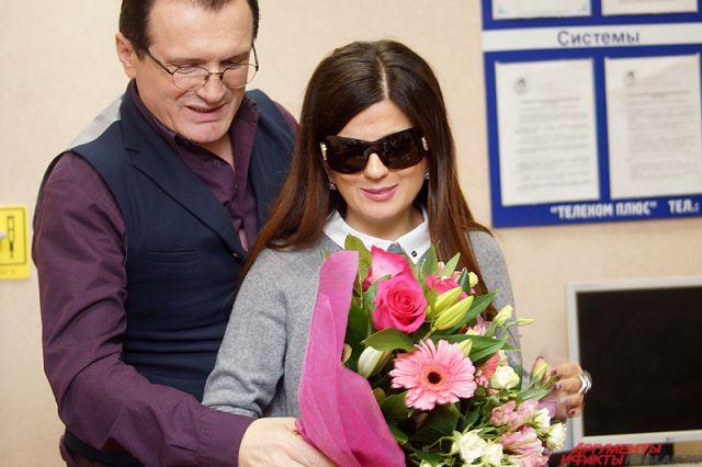 Диана Гурцкая вместе с продюсером.
