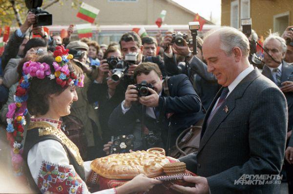Визит Михаила Горбачёва в Болгарию, 1985 год.