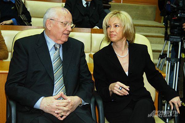 Михаил Горбачёв с дочерью Ириной Вирганской, 2005 год.