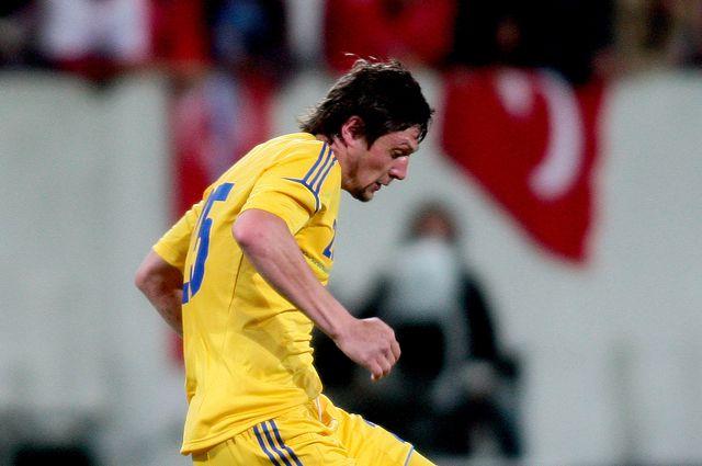 Евгений Селезнев в составе сборной Украины на Евро-2012.