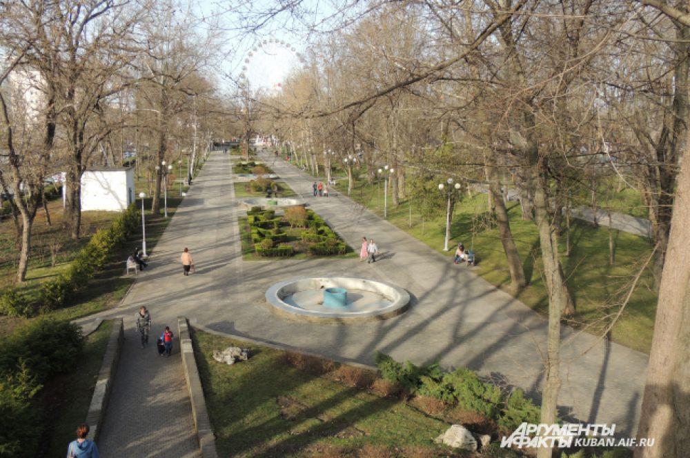 Городской сад Краснодара.