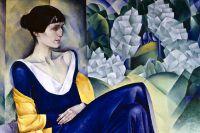 Картина советского художника и графика Натана Исаевича Альтмана «Портрет Анны Ахматовой». 1914 год.