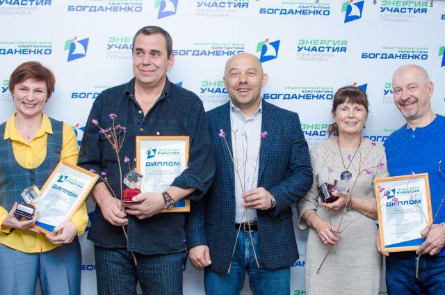 Победители февраля и Константин Богданенко (в центре).