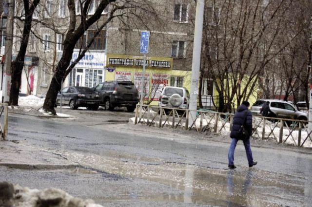 За первые три недели февраля в Перми произошло 45 ДТП, где причиной стало плохое состояние улично-дорожной сети.