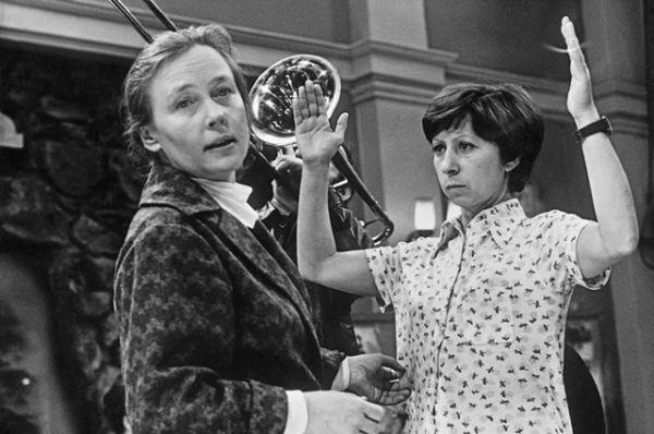 В роли члена правления гаражного кооператива Аникеевой в культовом советском фильме «Гараж» (1979).