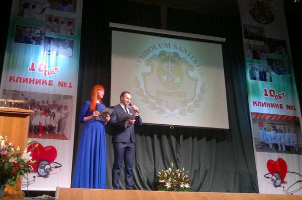 26 февраля в Волгоградском медуниверситете прошло торжественное собрание в честь первой круглой даты многопрофильной клиники № 1 ВолгГМУ
