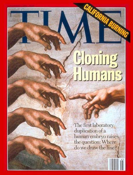 8 ноября 1993 года. Несмотря на критику со стороны религиозных общин, издание поднимает тему клонирования человека.